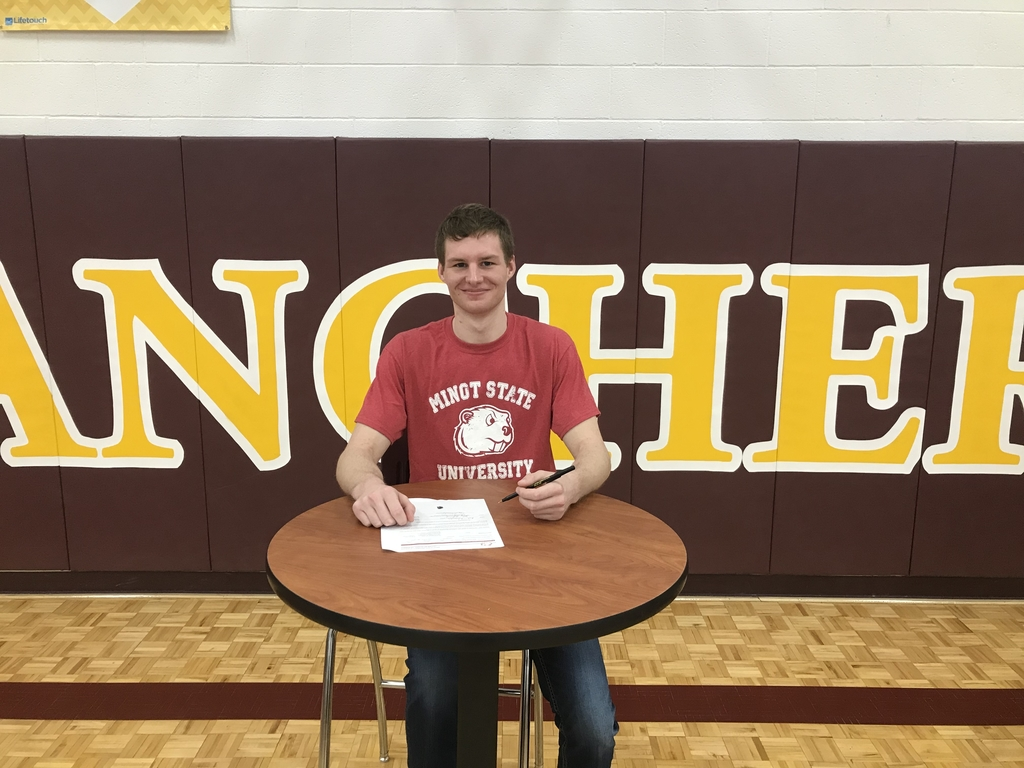 Noah Schroeder signed his letter of intent to play football for the Minot State Beavers!